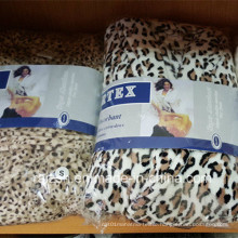 High Quanlity Flannel Leopard Print Bathrobe for Women