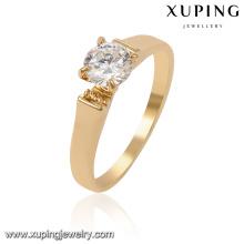 13958-Xuping Melhor Qualidade Simplesmente Design De Anel De Ouro Para Casamentos
