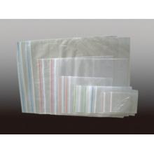 Plástico transparente PE Zipper saco