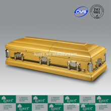 LUXES 2015 New Style Caskets Golden Funeral Caskets For Sale