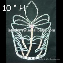 Hochzeits-Haar-Zusätze Silber überzogene Kristalltiara-Blumenmädchen-Barrettes