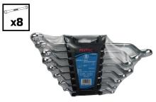 FIXTEC ручной инструмент 6-22 мм смещения кольцо гаечный ключ набор