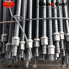 Hollow Drilling Mining Rock Grouting Perno de anclaje