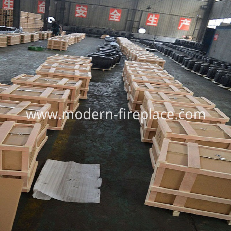 Wood Burning Kitchen Stove Factory Packaging