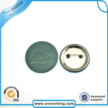 2.2cm Round Photo Custom Logo Lapel Pin with Safety-Pin