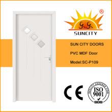 De Bonne Qualité Porte en PVC MDF en verre (SC-P109)