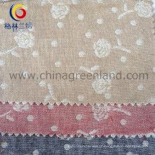 100% algodão Jacquard fio tecido tingido para vestuário têxtil (GLLML080)