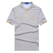Xxxl Men Slim Fit Striped Polo Shirt
