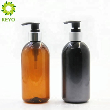 Plastic pet shampoo bottle 300ml pet boston container