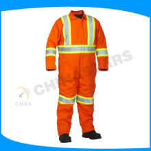 fluorescent orange flame retardant coveralls fireman safety suits in high temperature heat environment