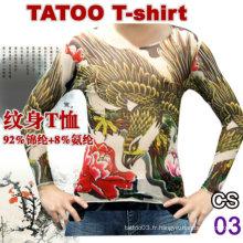 T-shirt en nylon tatouage chaud à vendre 2016
