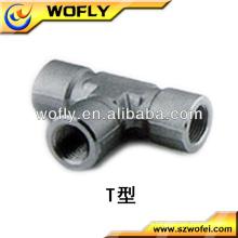 China Messing weiblich T-Stück Rohrverschraubungen austauschbar mit Swagelok Rohrverschraubungen