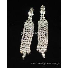 New Promotion Bridal Elegant Silver Drop Crystal Stud Earrings
