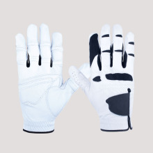White and Black PU Soft Leather Golf Gloves