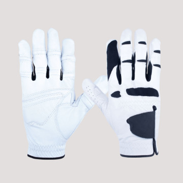Europe style for Winter Golf Gloves White and Black PU Soft Leather Golf Gloves supply to Italy Supplier