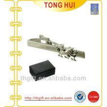 Plata grabada animal metal Tie bar fábrica de accesorios Tie
