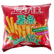 A batata cola o saco / o saco plástico das microplaquetas de batata / saco alimento do petisco