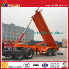 20 FT 25-35tons Hydraulic Skeleton Dumping Container Tipper Trailer