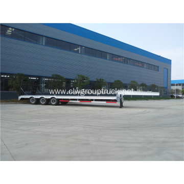 3 axle low flat-panel semi-trailer for sale