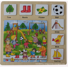 Educational Wooden Puzzle Wooden Toys (34772)