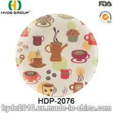 2016 New Type BPA Free Bamboo Fiber Plate (HDP-2076)