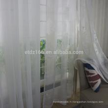 Nouveau tissu de rideau de voile polyester poli
