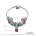 Pulseira OEM charme jóias, pulseira de ouro 24k cor de ouro, pulseira de liga de cobre rosa para as mulheres
