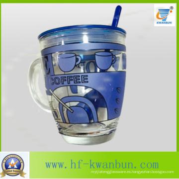 Taza de vidrio taza con la tapa con la taza de café de la taza Kb-Hn0735