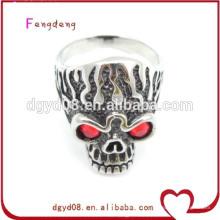Нержавеющая сталь череп кольцо оптовая