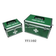 2 en 1 caja médica de aluminio puede ahorrar coste de la carga