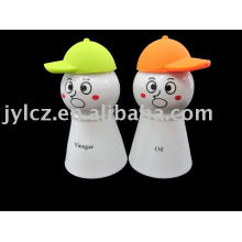 Ceramic oil and vinegar bottle,snowman