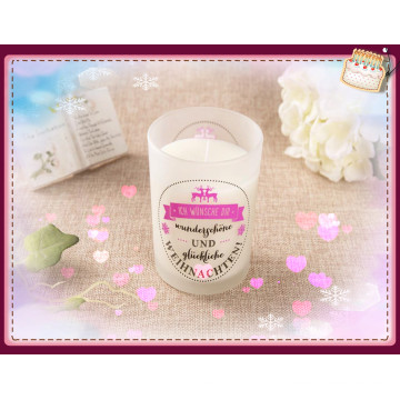 Elegant Fashion Soy Candle Handmade for Birthday in Clear Glass