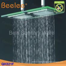 50 * 25cm Wasserkraft LED Glas Decken montiert Kopfbrause (Qh321f)