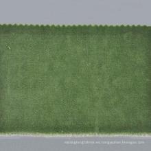 Tela de terciopelo verde oliva para la ropa