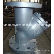 Filtro Y de aço carbono da extremidade da flange