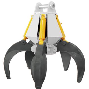 Garra Hidráulica Rotativa Multi Peel 360 graus
