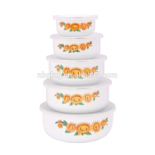 5PCs high quanlity cremic planus ice bowl &PE lid