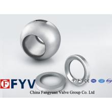 Peças de válvula de esferas de aço inoxidável de alta qualidade