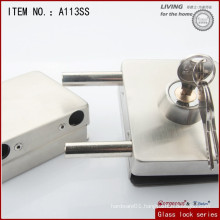 Square sliding glass door lock /High quality glass door lock