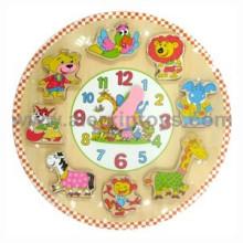 Juguete de madera del reloj (81303)