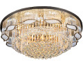 gold finish traditional crystal ceiling light