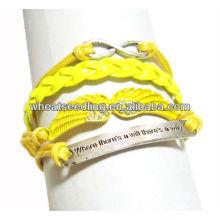 New Design Plain Baid Long Leather Bracelet LB04