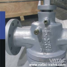 API599 Cast Steel Wcb/CF8/CF8m Lubricated Plug Valve