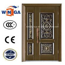 Korridor außen mit Eingang Sicherheit Metall Kupfer Tür (W-STZ-02)