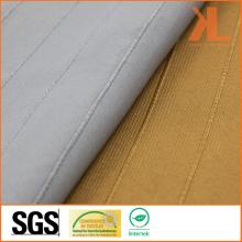 Polyester breite Breite inhärent feuerhemmende Gold gestreiften gewebten feuerfesten Vorhang Stoff