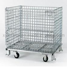 Faltende schwere Faltbare Transport Roll Wire Mesh Container