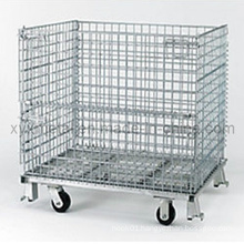 Heavy Duty Stackable Folding Metal Wire Gabion Roll Cage Container