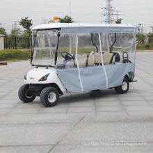 4-Seater Electric Utility Vehicle with Shade Screens (DG-C4)