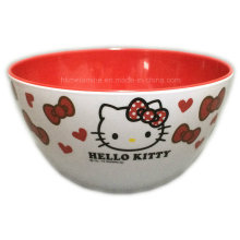 Bicolor Round Melamine Bowl with Logo (BW7065)