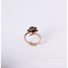Rose Flower Fashion Jewelry Ring in Good Quality Polishing and Plating